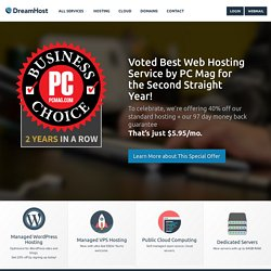 Web Hosting by DreamHost Web Hosting: Web Sites, Domain Registra
