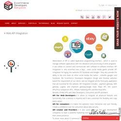 Web API Integration Company in India