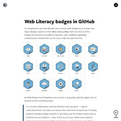 Web Literacy badges in GitHub