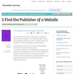 Web Literacy - Publisher of a Website