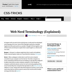 Web Nerd Terminology (Explained)