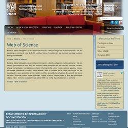Web of Science - (Acceso a comunidad UNAM)