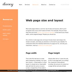 Web page size and layout : Iteracy - web design and development partners in Cornwall