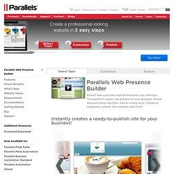 Plesk SiteBuilder 4.5 — Demo