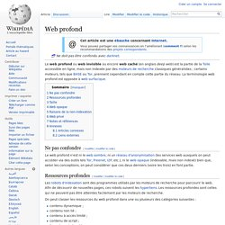 Web profond
