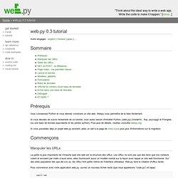 web.py 0.3 tutorial (web.py)