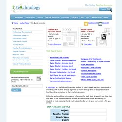 Web Quest Maker