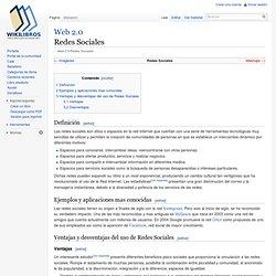 Web 2.0 / Redes Sociales