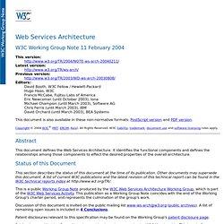 Web Services Architecture