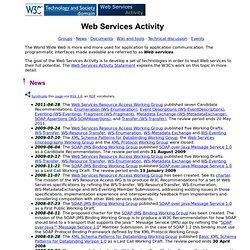 Web Services @ W3C