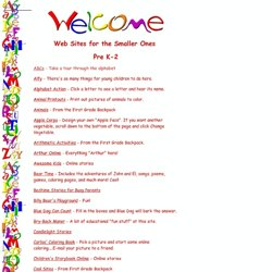Web Sites for the Little Ones: K-2