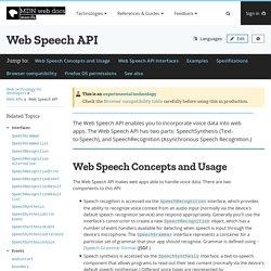 Web Speech API - Web APIs