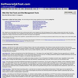 Web Test Tools