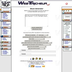 Web-Tricheur.net Skuze Generator