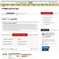 Web TV gratis