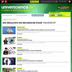 Web TV universcience.tv - université