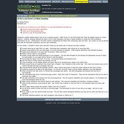 Web Usability Tips