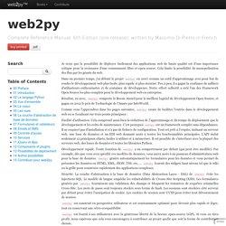 web2py - Préface