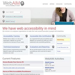 Web Accessibility In Mind