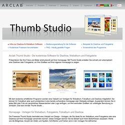 Diashow und Webalbum Freeware Thumb Studio - Software für Hompage Fotogalerien