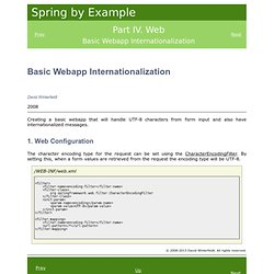 Spring by Example - Spring Web MVC Locale Change