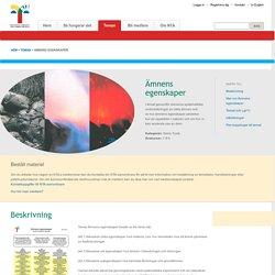 NTA.WebApplication - Ämnens egenskaper