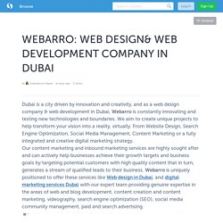 WEBARRO: WEB DESIGN& WEB DEVELOPMENT COMPANY IN DUBAI