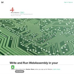 Write and Run WebAssembly in your browser with WasmFiddle!