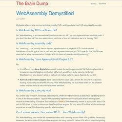 WebAssembly Demystified