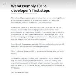 WebAssembly 101: a developer's first steps
