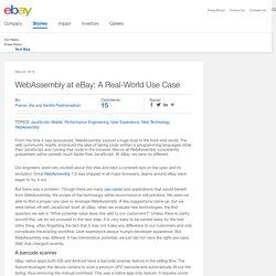 WebAssembly at eBay: A Real-World Use Case