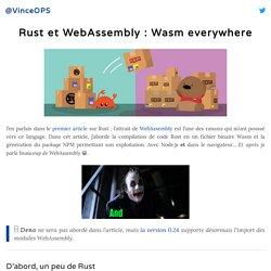 Rust et WebAssembly : Wasm everywhere