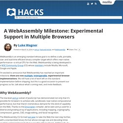 A WebAssembly Milestone: Experimental Support in Multiple Browsers