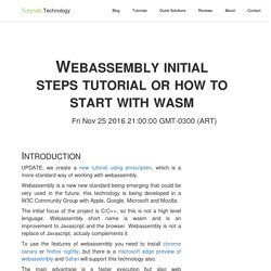 Webassembly initial steps tutorial or how to start with wasm