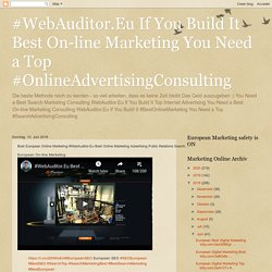 Best European Online Marketing #WebAuditor.Eu Best Online Marketing Advertising Public Relations Search...