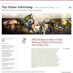 #WebAuditor.eu Beste Online Werbung Efficient Promotion Advertising Top …