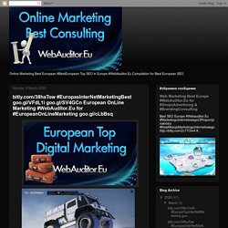 bitly.com/38haTow #EuropasInterNetMarketingBest goo.gl/VFdL1i goo.gl/SV4GCn European OnLine Marketing #WebAuditor.Eu for #EuropeanOnLineMarketing goo.gl/cLbBsq