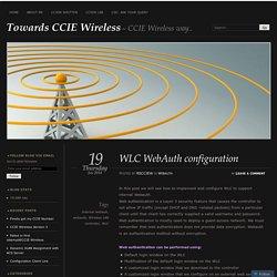 WLC WebAuth configuration