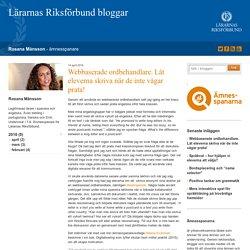 Webbaserade ordbehandlare. Låt eleverna skriva när de inte vågar prata! - Rosana Månsson