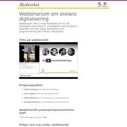 Webbinarium om skolans digitalisering