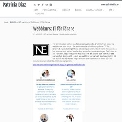 Webbkurs: IT för lärare