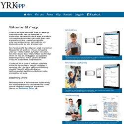 YRKapp - webblösning för bedömning, självskattning och uppföljning av apl