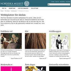 Nordiska museet - Webbutställningar