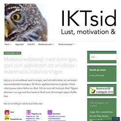 Matteva-webbsajt med övningar, spel och aktiviteter att använda i matematikundervisningen – IKTsidan