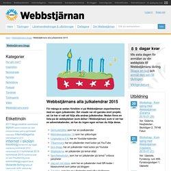 Webbstjärnans alla julkalendrar 2015