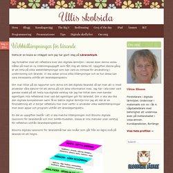Webbtillämpningar för lärande