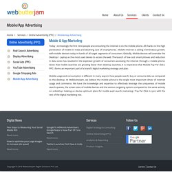 Webbutterjam: Mobile/App Advertising Solutions for Brands.