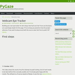 Webcam Eye Tracker – PyGaze