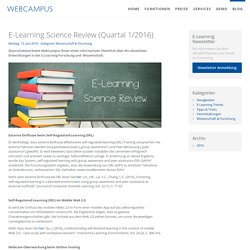 E-Learning Science Review (Quartal 1/2016) - WebCampus - E-Learning Komplettlösung