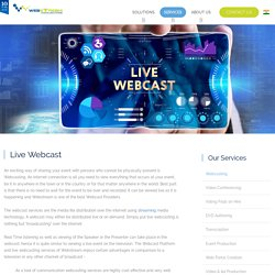 Live Internet Webcasting Services in Hyderabad & Bangalore, Webcast Providers